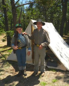 Civil War Renactors Rick Dougherty and his son Nathan