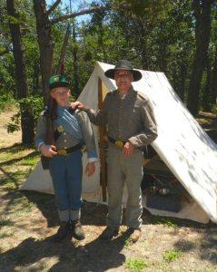Civil War Renactors Rick Dougherty and his son Nathan