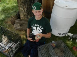 Nathan Dougherty of Burney 4H explains about chickens