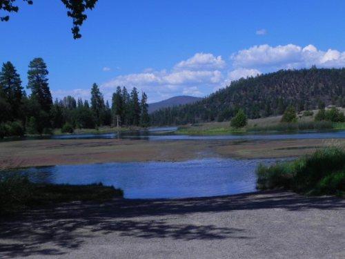 Baum Lake in a hot July