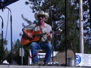 Jeff McNiel at the Burney Basin Days Fireworks Program