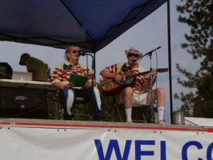 Marty and Vicky McAbee entertain