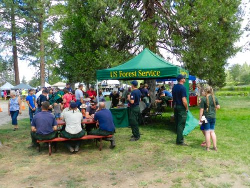 US Forest Service handing out goodies