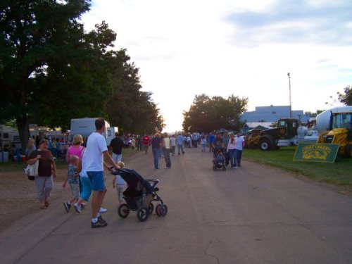 Strolling the fairgrounds