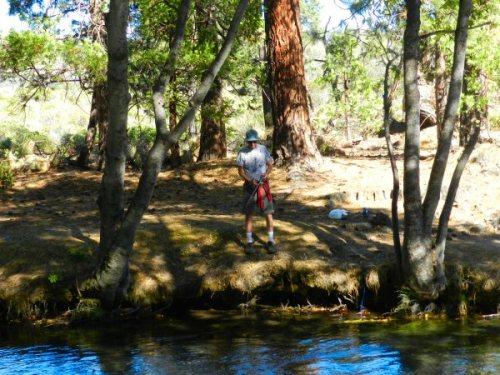 Young man from Reno fishing Hat Creek
