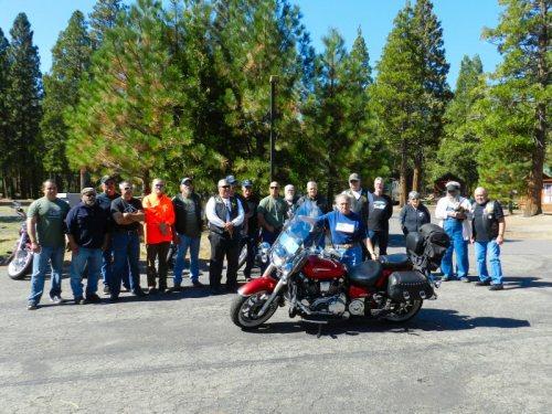 Veterans at the fundraiser