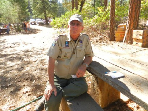 Dave Affleck Scout Master from Scotts Valley