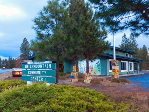 Intermountain Community Center where a small congregation meets each Sunday