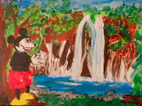 Mickey Mouse by Burney Falls