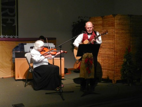 """As Christmas"" performed by Steve Stoore and Virginia Dye on violin"
