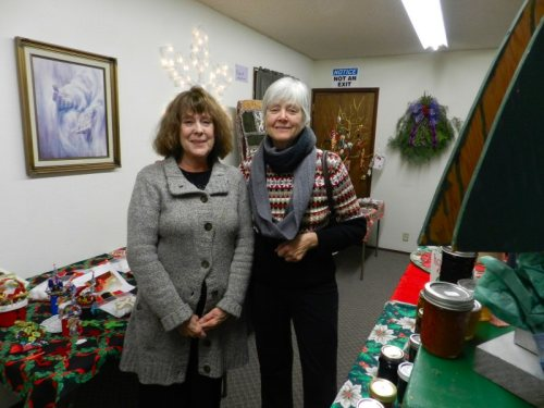 Sarah Clark and Barbara Watson at New Hope Evangelical