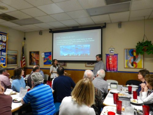 Kaylynn Harper and Jedediah Smith Speaking at the Rotary Center