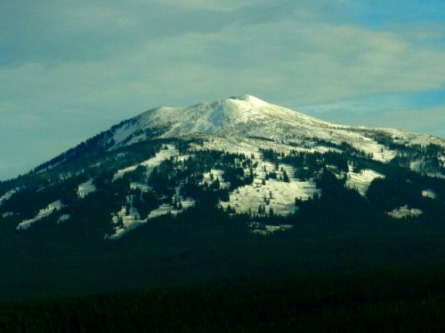 Mt. Burney on December 5. The snow pack has continued to build since then.