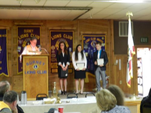 Lions Club Speech Contestantts