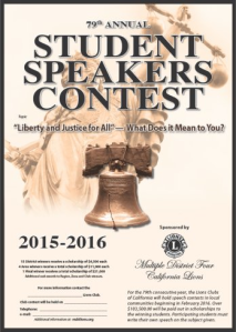 Lions 79th Annual Student Speakers Contest