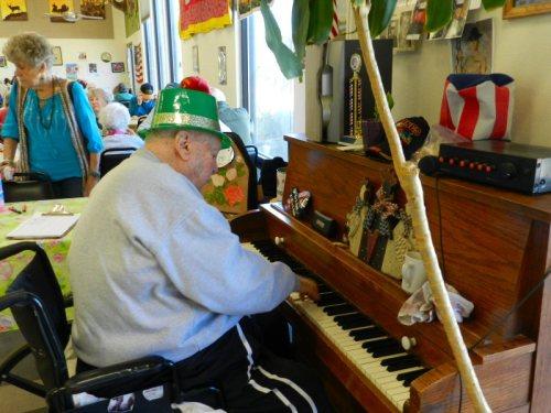Ron playing music