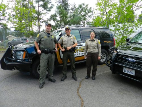 Deputies Erickson and Estes and Service Officer Pruitt came to speak with the children