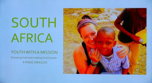 Kynzie Dragoo on mission in South Africa
