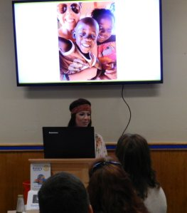 Kynzie talks about here experience with African children