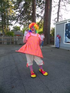 Bobo the Clown raising funds for a new Burney Performing and Visual Arts Center