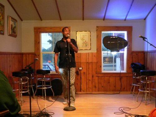 Jamieson Brown performs a beautiful poem