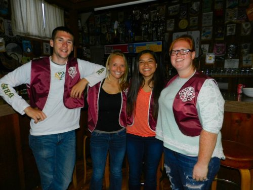Leos Trenton Arendt, Megan Arsenau, Carissa Tereba, and Beverly Vaugn served the meal