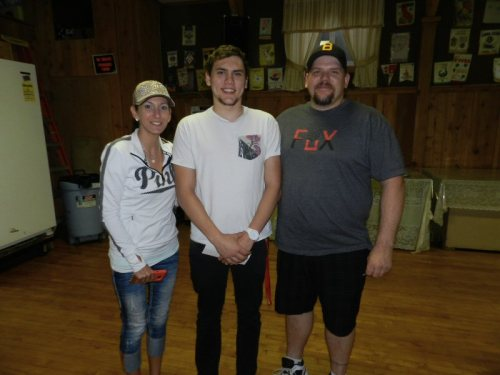Misti Nelson, Kyler, and Dan Mancs