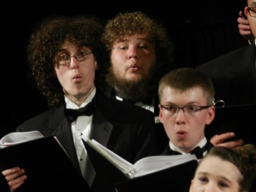 A section of the male singers