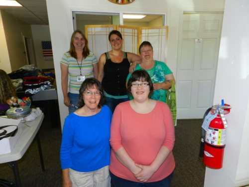 Circle of Friends workers Front Lyn Erickson, Kimberlly Davis, BAck Jeanine Gonzales, Chelsea Sabin, Kay Hicks