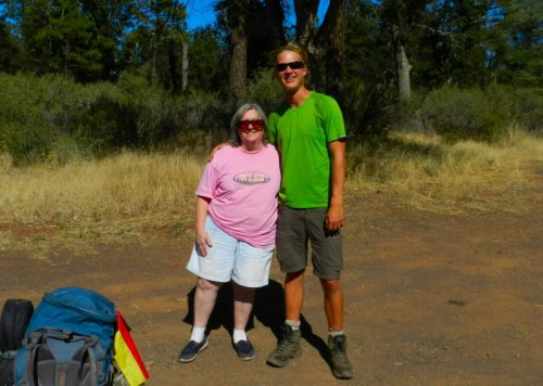 Linda and Troubador near the 299 PCT trailhead