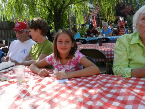 Melissa Laree Carpenter enjoyed her first Bureny Basin Days Chuck Wagon Breakfast