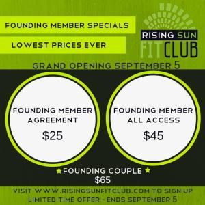 Founding member specials