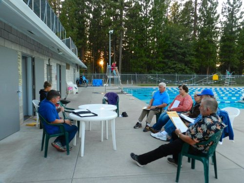 Burney Water Board Meeting at the pool