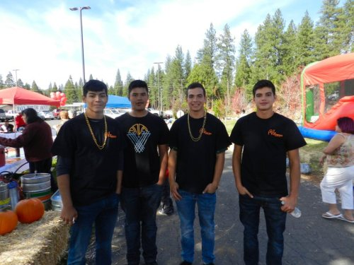 Bureny High School Raiders came to help out
