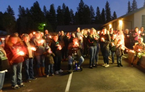 Candlelight vigil for Angelina Rodriguez