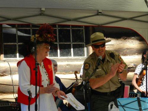 Catherine Camp and Ranger Mizeur recognize awardees
