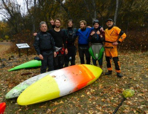 Kayakers from Alaska, Wyoming, Oregon, and Washington