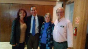 Rev. Penni Elaine, Rev. Rob Watkins, Melanie Kerns, and Michael Kerns