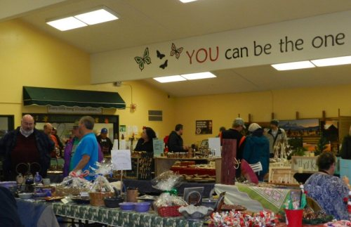 A variety of arts and crafts, delicious baked goods, and wonderful soups
