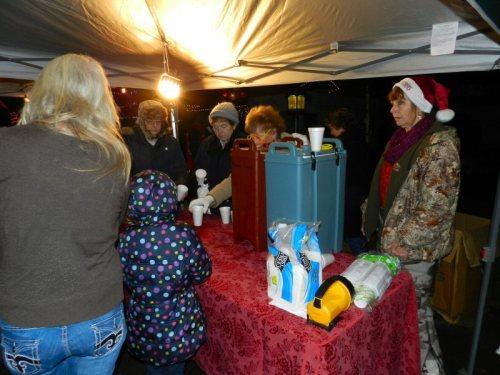 Soroptomists served cider and hot chocolate