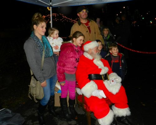 The Meltons enjoyed meeting Santa very much