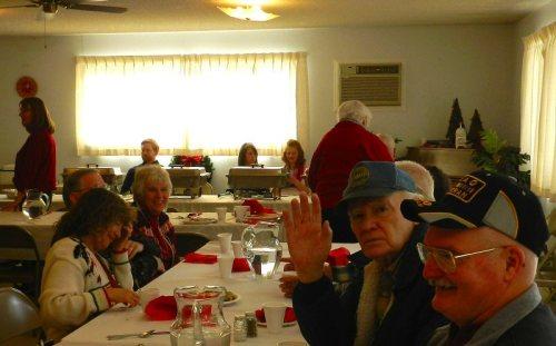 Christmas meal at Grace Bible Church