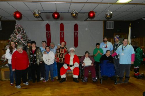 Group shot with Santa