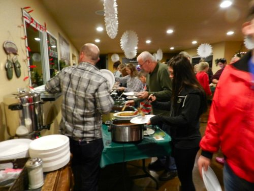 More than 100 people came to sample the chili