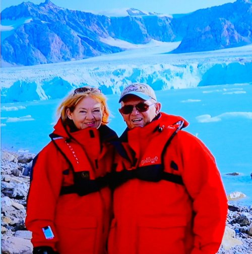 Patricia and Bruce Bergman in the Arctic