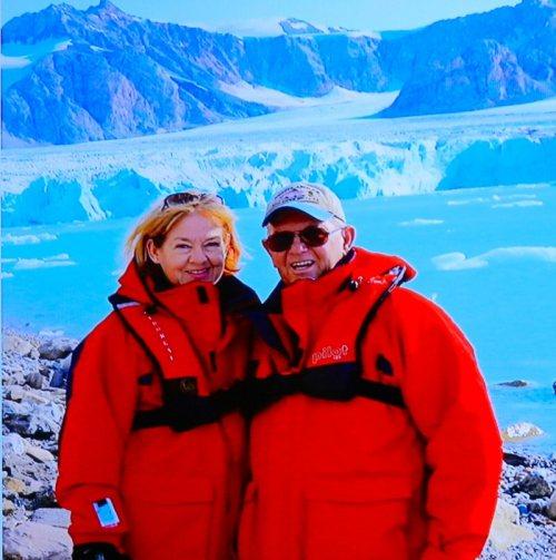 Patricia and Bruce Bergman in the Arctic