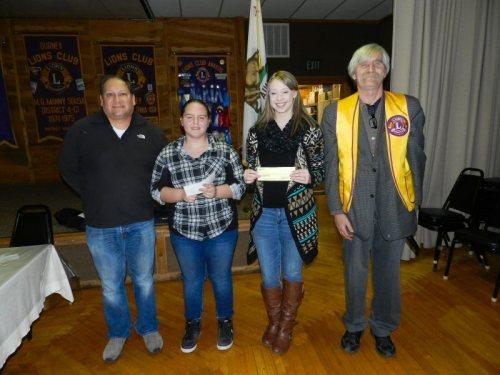 BHS Principal Ray Guerrero, Cheyenne Willson, Alison Jones, and Lion George Whitfield
