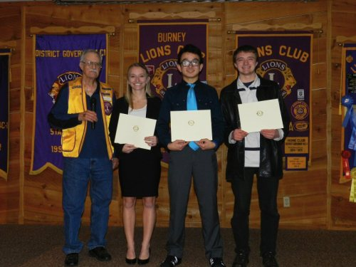 Lion Bill Cummings, Megan Arsenau, Ryan Pruitt, and James Chapman