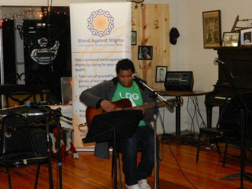 Singer songwriter Tyson sings some original songs