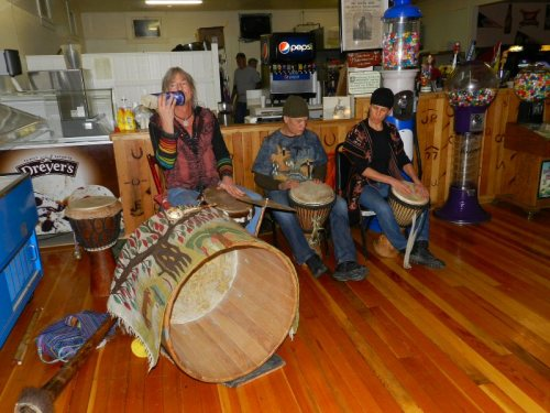 Skip Holden and drummers perform a drum song dedicated to Tom and Marie Vestal